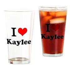 I Love Kaylee Drinking Glass