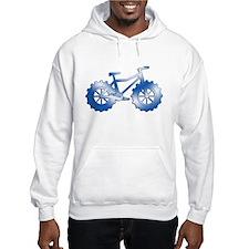 fat tire logo blue shadow Hoodie