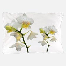 beautiful white orchid flowers. Pillow Case