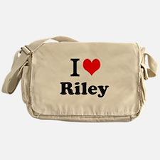 I Love Riley Messenger Bag