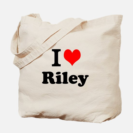 I Love Riley Tote Bag