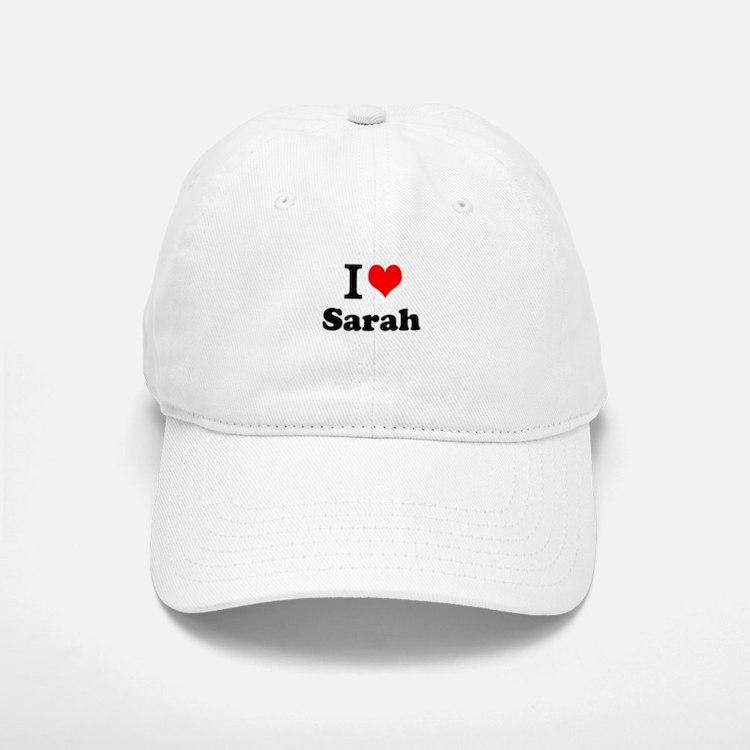 I Love Sarah Baseball Baseball Baseball Cap