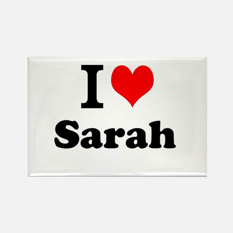 I Love Sarah Magnets
