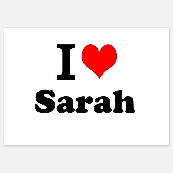 I Love Sarah Invitations