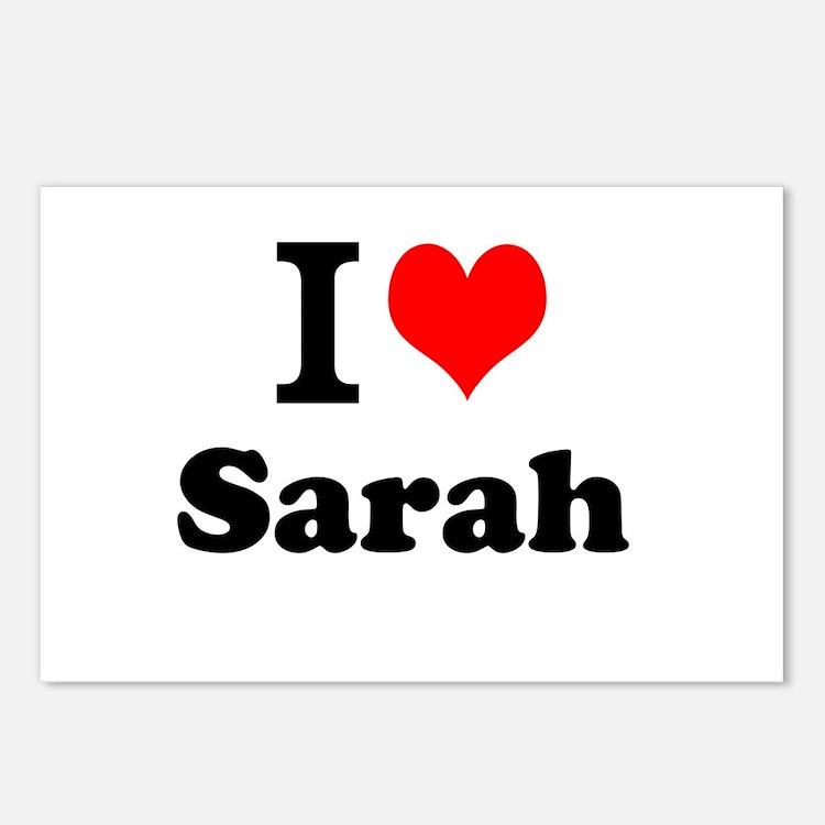 I Love Sarah Postcards (Package of 8)