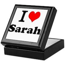 I Love Sarah Keepsake Box