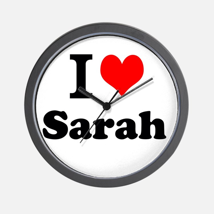 I Love Sarah Wall Clock