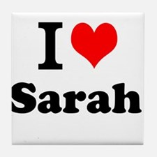 I Love Sarah Tile Coaster