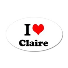 I Love Claire Wall Decal