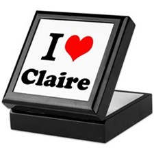 I Love Claire Keepsake Box