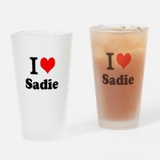 I Love Sadie Drinking Glass