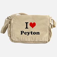 I Love Peyton Messenger Bag