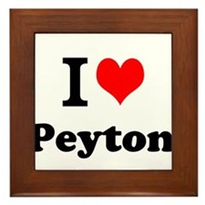 I Love Peyton Framed Tile