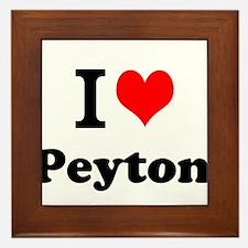 I Love Peyton Framed Tile