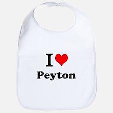 I Love Peyton Bib