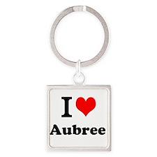 I Love Aubree Keychains