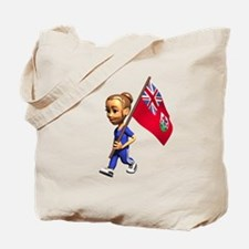 Bermuda Girl Tote Bag