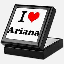 I Love Ariana Keepsake Box