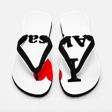 I Love Alyssa Flip Flops