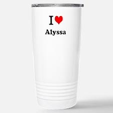 I Love Alyssa Travel Mug