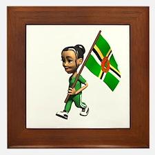 Dominica Girl Framed Tile