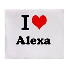I Love Alexa Throw Blanket