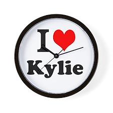 I Love Kylie Wall Clock