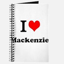 I Love Mackenzie Journal