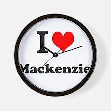 I Love Mackenzie Wall Clock