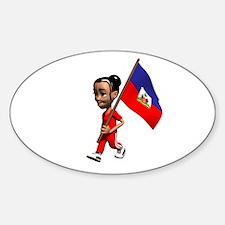 Haiti Girl Oval Decal