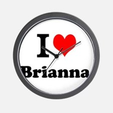 I Love Brianna Wall Clock