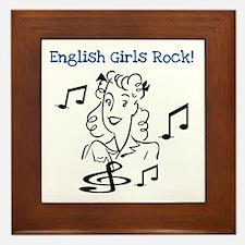 English Girls Rock Framed Tile