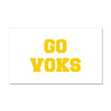 Voks-Fre yellow gold Car Magnet 20 x 12