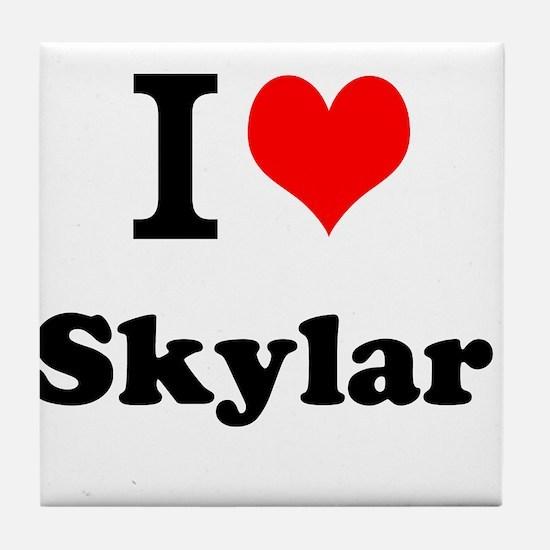 I Love Skylar Tile Coaster