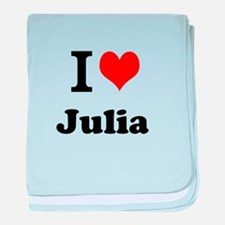 I Love Julia baby blanket