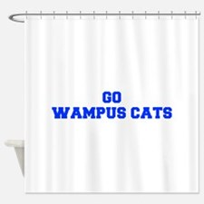 Wampus Cats-Fre blue Shower Curtain