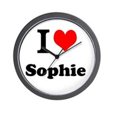 I Love Sophie Wall Clock