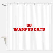 WAMPUS CATS-Fre red Shower Curtain