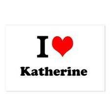 I Love Katherine Postcards (Package of 8)