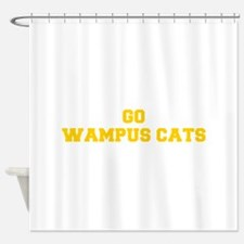 Wampus Cats-Fre yellow gold Shower Curtain