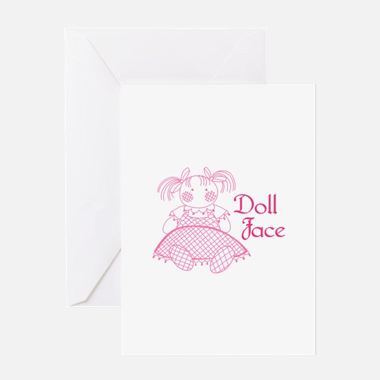 Doll Face Greeting Cards
