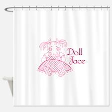 Doll Face Shower Curtain
