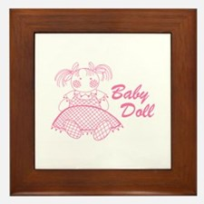 Baby Doll Framed Tile