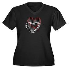I HEART ACUPUNCTURE Women's Plus Sz V-Neck T-Shirt
