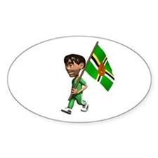Dominica Boy Oval Decal