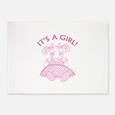 It's A Girl! 5'x7'Area Rug
