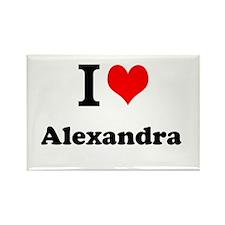 I Love Alexandra Magnets