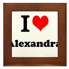 I Love Alexandra Framed Tile