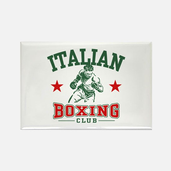 Italian Boxing Rectangle Magnet