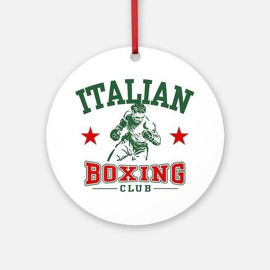 Italian Boxing Ornament (Round)